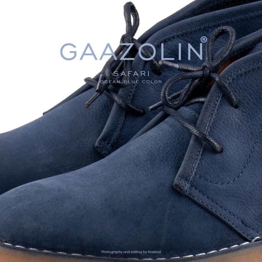 کفش صحرایی سافاری گازولین آبی اقیانوس – GAAZOLIN Safari Veldskoen Shoes Ocean Blue