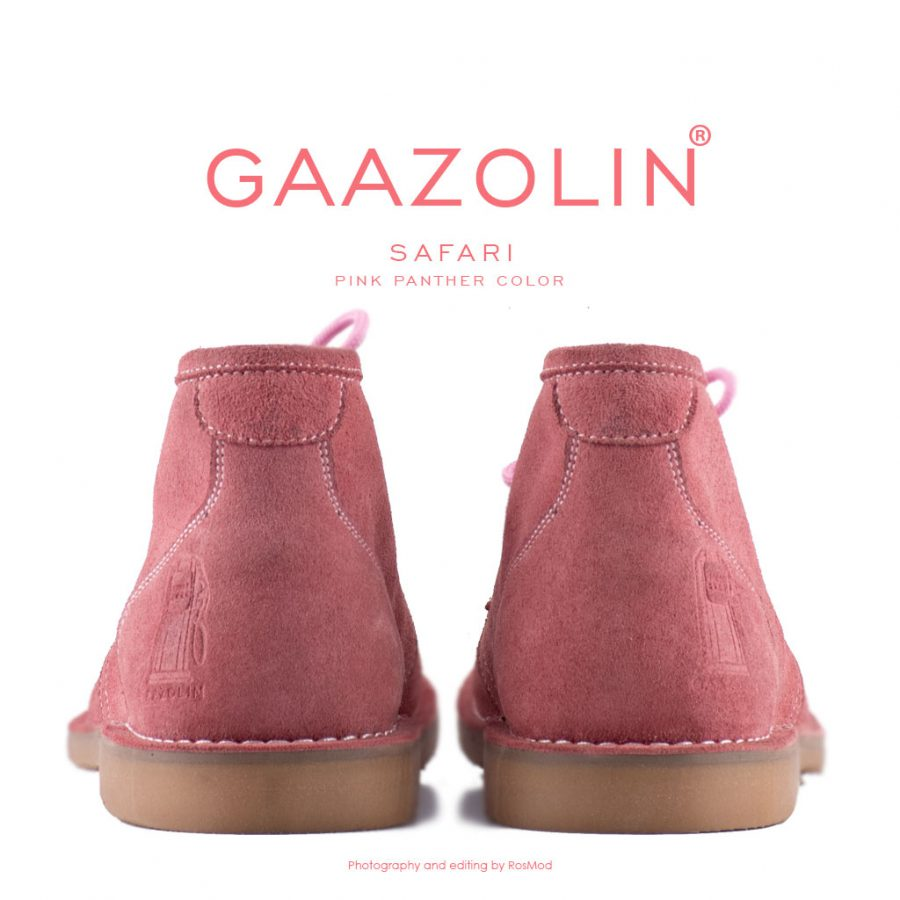 کفش صحرایی سافاری گازولین صورتی چرک – GAAZOLIN Safari Veldskoen Shoes Pink Panther