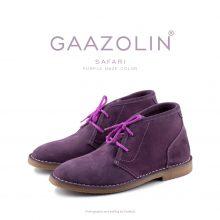 کفش صحرایی سافاری گازولین بنفش - GAAZOLIN Safari Veldskoen Shoes Purple Haze