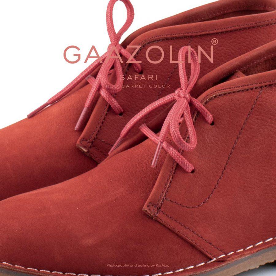کفش صحرایی سافاری گازولین قرمز هورس – GAAZOLIN Safari Veldskoen Shoes Red Carpet