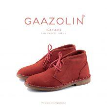 کفش صحرایی سافاری گازولین قرمز هورس - GAAZOLIN Safari Veldskoen Shoes Red Carpet