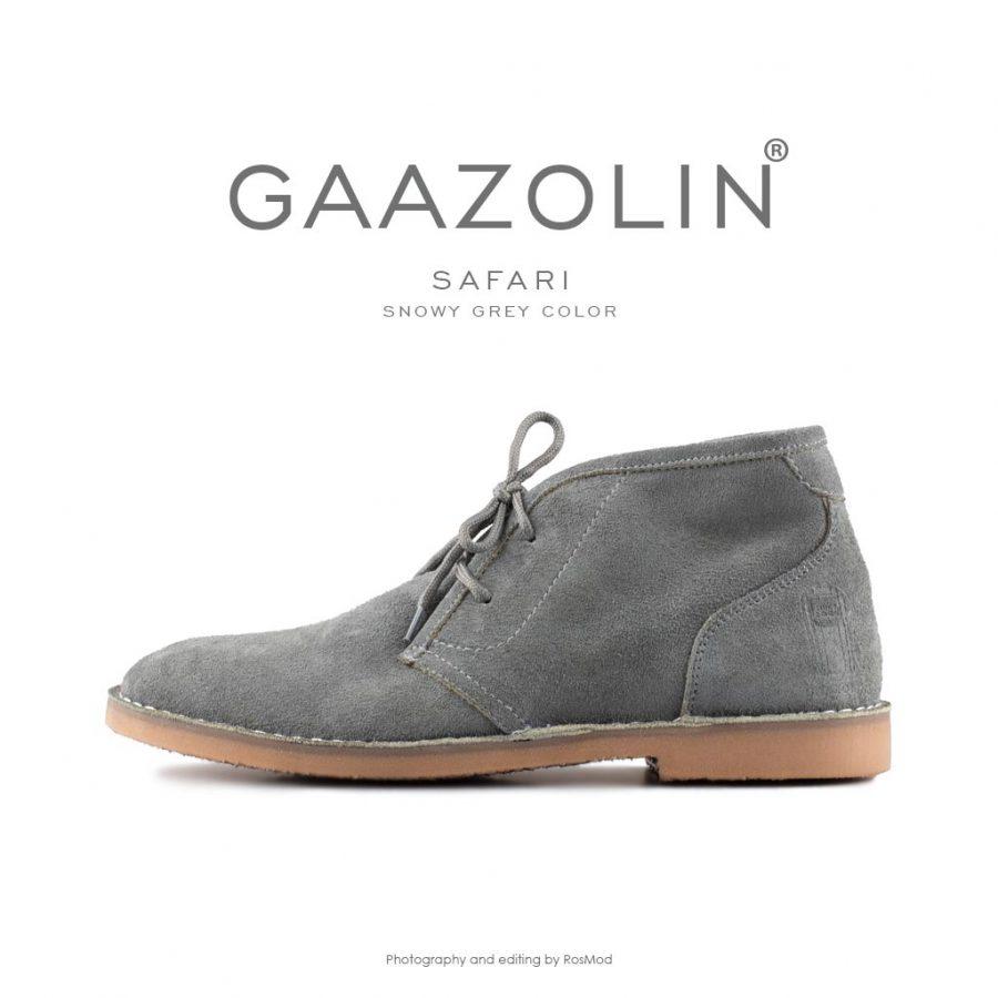 کفش صحرایی سافاری گازولین طوسی برفی – GAAZOLIN Safari Veldskoen Shoes Snowy Grey