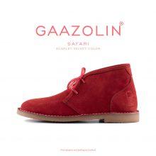 کفش صحرایی سافاری گازولین مخمل سرخ - GAAZOLIN Safari Veldskoen Shoes Scarlet Velvet