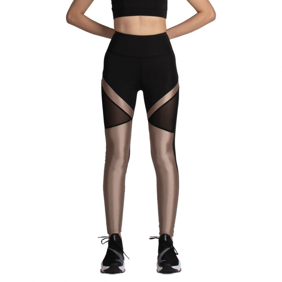 لگ اسلیم ورزشی مشکی/طلایی – Agi Slimming Sportive Leggings Siyah/Altın