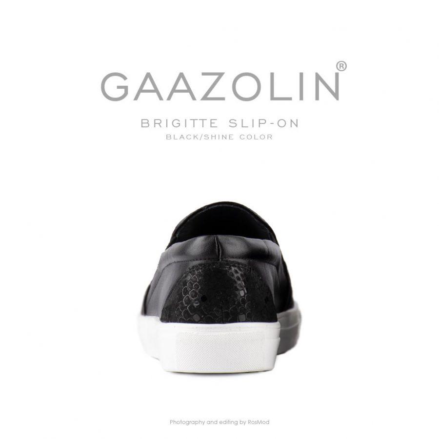 اسلیپ-آن بریژیت گازولین مشکی – GAAZOLIN Brigitte Slip-on Black Shine Color