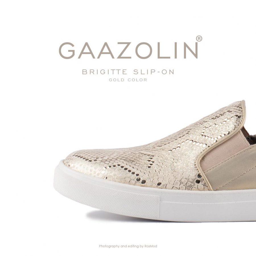 اسلیپ-آن بریژیت گازولین گلد – GAAZOLIN Brigitte Slip-on Gold Color