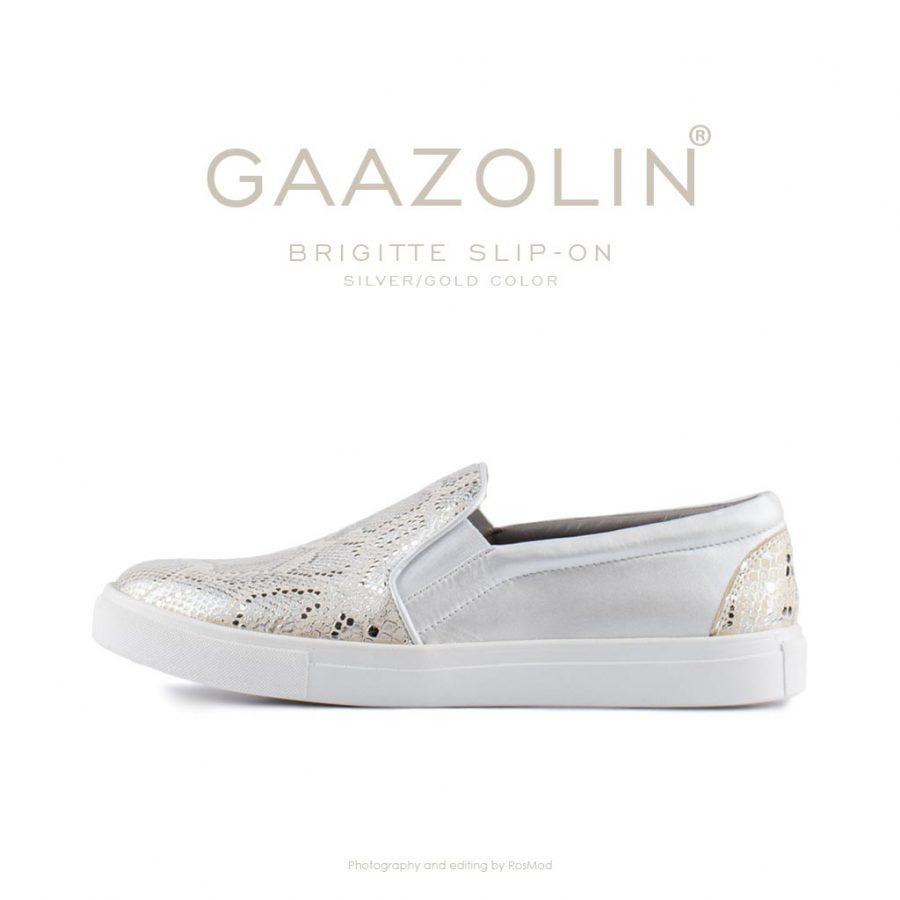 اسلیپ-آن بریژیت گازولین نقره ای طلایی – GAAZOLIN Brigitte Slip-on Silver Gold Color