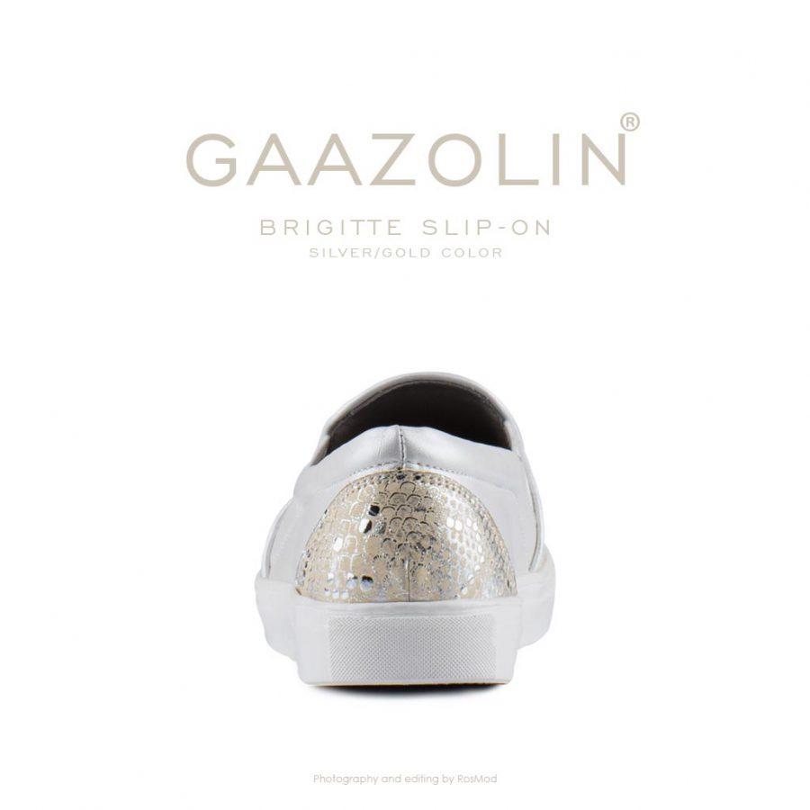 اسلیپ-آن بریژیت گازولین نقره ای طلایی – GAAZOLIN Brigitte Slip-on Black Silver Gold Color