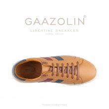 کتانی لیبرتین گازولین شتری - GAAZOLIN Libertine Sneakers Camel Color