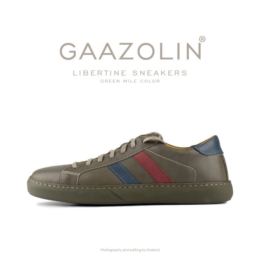 کتانی لیبرتین گازولین زیتونی – GAAZOLIN Libertine Sneakers Green Mile Color