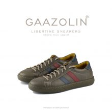 کتانی لیبرتین گازولین زیتونی - GAAZOLIN Libertine Sneakers Green Mile Color