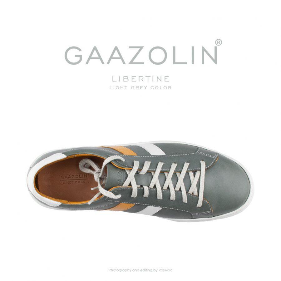 کتانی لیبرتین گازولین طوسی روشن – GAAZOLIN Libertine Sneakers Light Grey Color