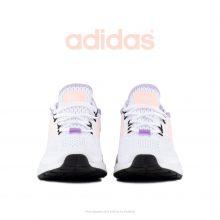 کتانی پیاده روی زنانه آدیداس سفید/رنگی - Adidas ZX 2K Boost White/Pink-Yellow-Purple