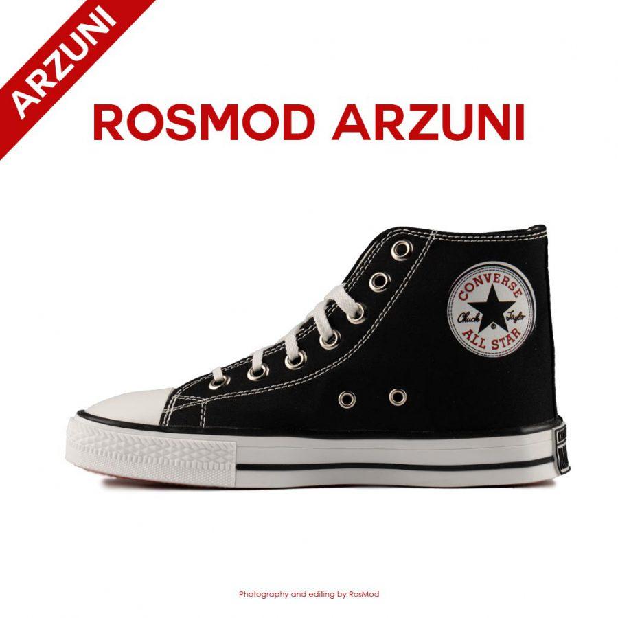 کتانی کانورس آل استار ساقدار مشکی سفید – Converse All Star High Black/White