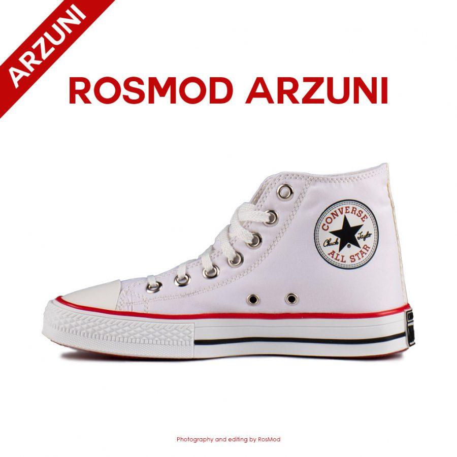 کتانی کانورس آل استار ساقدار سفید – Converse All Star High White