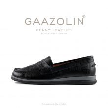 لوفر پنی گازولین مشکی - GAAZOLIN Penny Loafers Black Bump Color