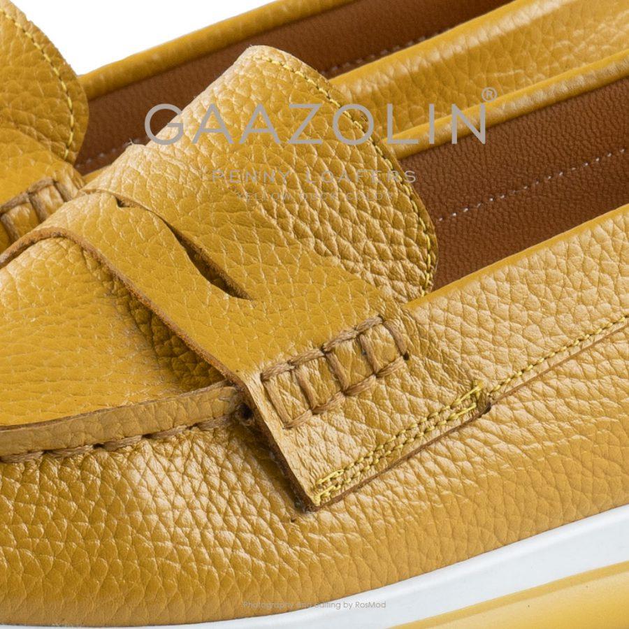 لوفر پنی گازولین خردلی – GAAZOLIN Penny Loafers Yellow Duck Color