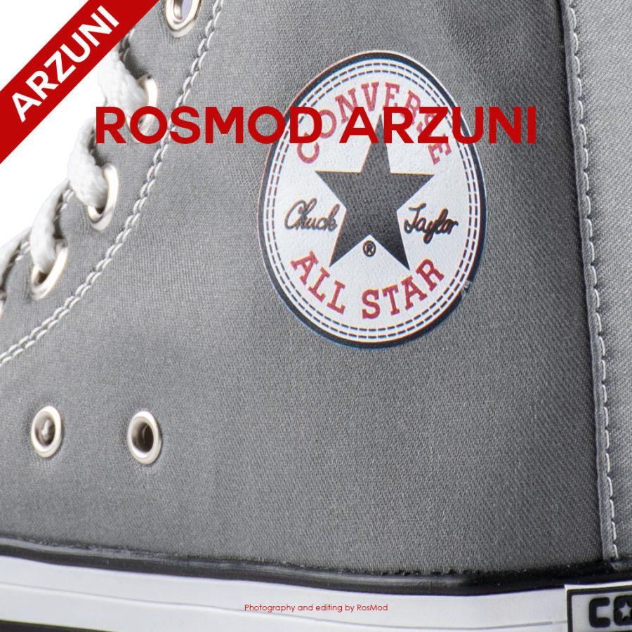 کتانی کانورس آل استار ساقدار طوسی – Converse All Star High Grey White