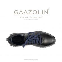 کتانی مولان گازولین تمام مشکی/آبی - GAAZOLIN Mulan Black/Blue Color