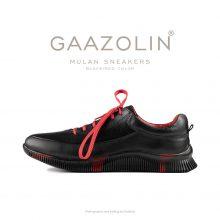 کتانی مولان گازولین مشکی/قرمز - GAAZOLIN Mulan Black/Red Color