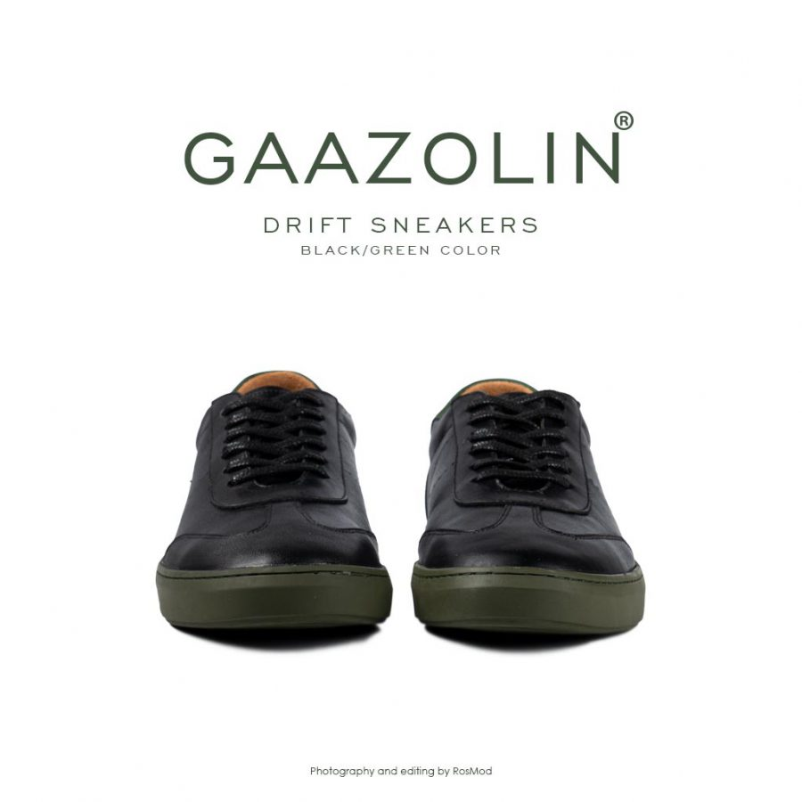 کتانی دریفت گازولین مشکی سبز – GAAZOLIN Drift Sneakers Black Green Color