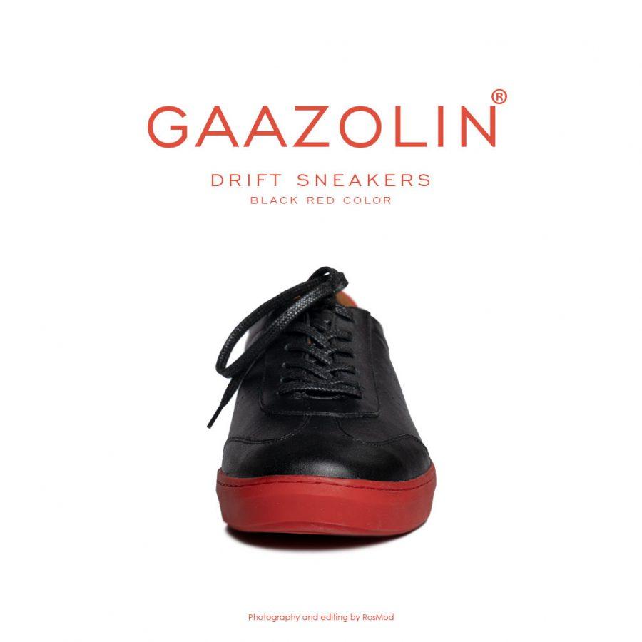 کتانی دریفت گازولین مشکی قرمز – GAAZOLIN Drift Sneakers Black Red Color