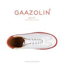 کتانی دریفت گازولین سفید قرمز - GAAZOLIN Drift Sneakers White Red Color