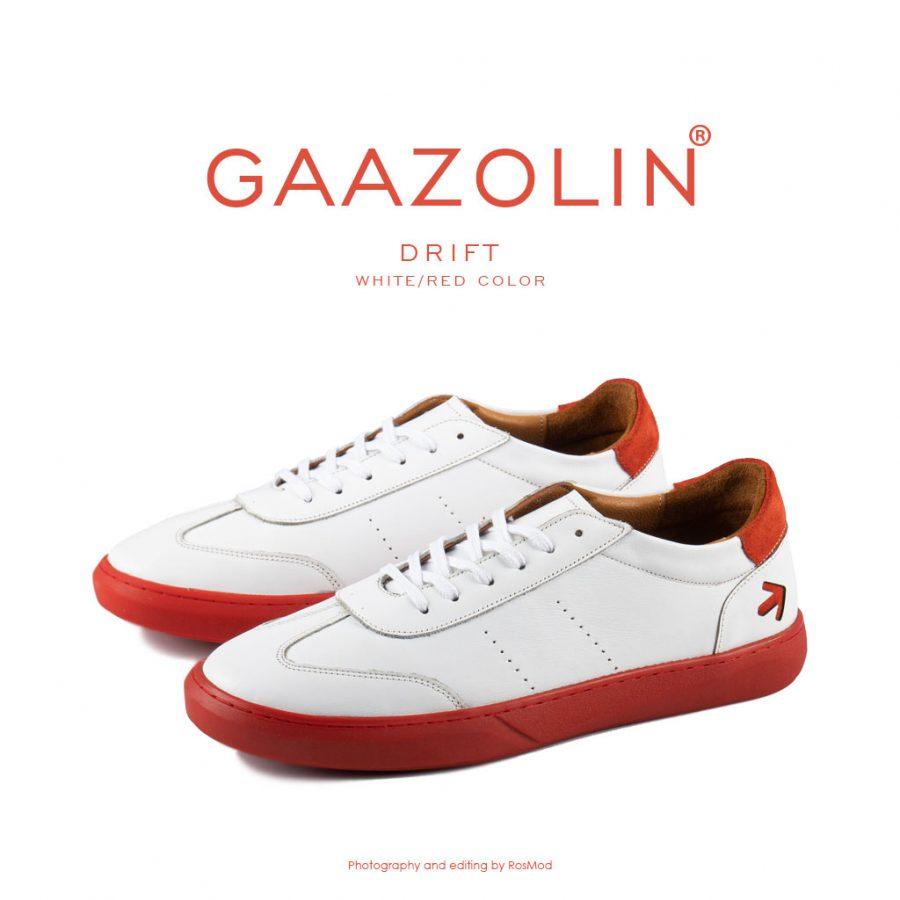 کتانی دریفت گازولین سفید قرمز – GAAZOLIN Drift Sneakers White Red Color