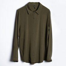 شومیز سبز زیتونی / Zere Womens Olive Shirt