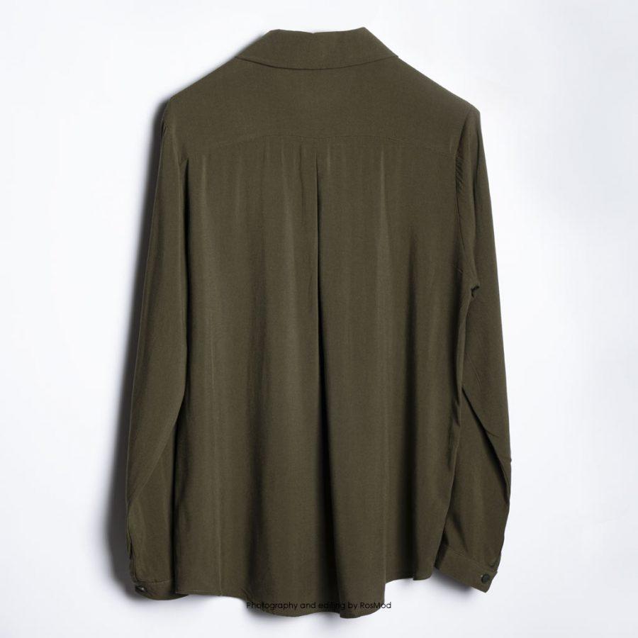 Zere Womens Olive Shirt شومیز سبز زیتونی