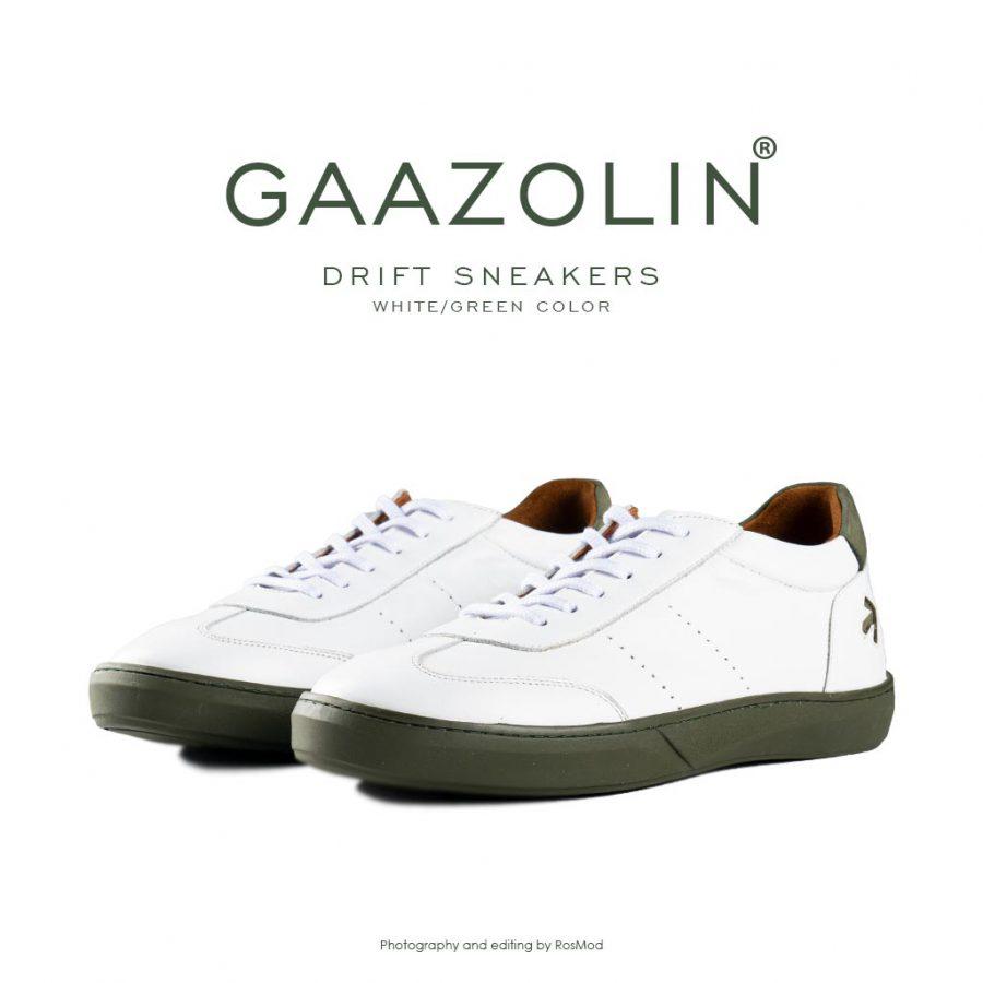 کتانی دریفت گازولین سفید سبز – GAAZOLIN Drift Sneakers White Green Color