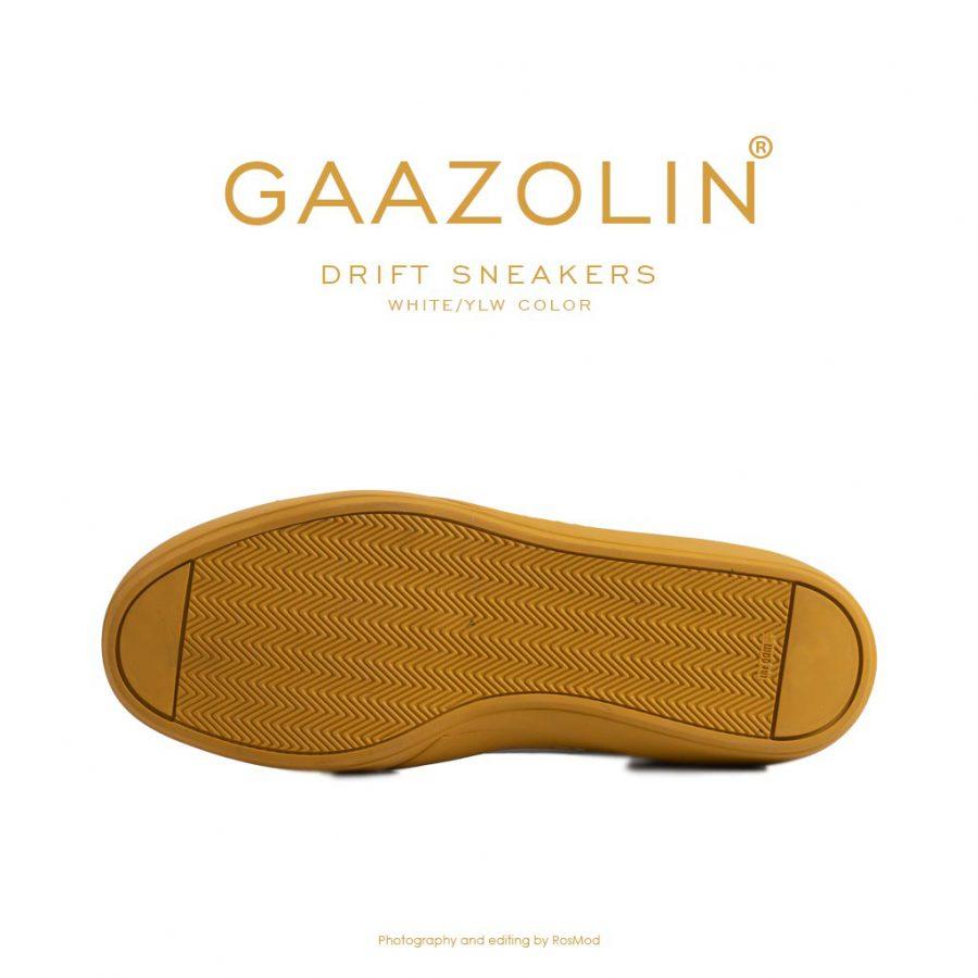کتانی دریفت گازولین سفید زرد – GAAZOLIN Drift Sneakers White Yellow Color