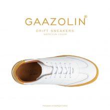 کتانی دریفت گازولین سفید زرد - GAAZOLIN Drift Sneakers White Yellow Color