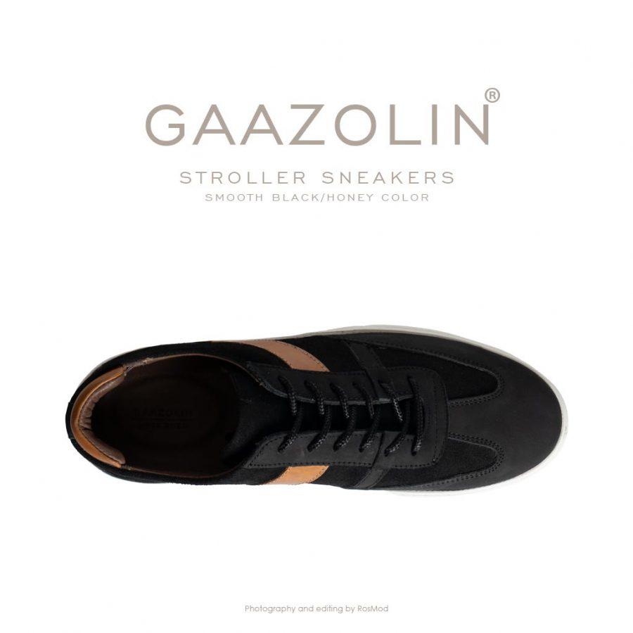 کتانی استرولر گازولین مشکی مات – GAAZOLIN Stroller Sneakers Smooth Black/Deep Honey