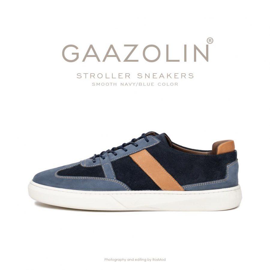 کتانی استرولر گازولین سرمه ای آبی مات – GAAZOLIN Stroller Sneakers Smooth Navy/Blue