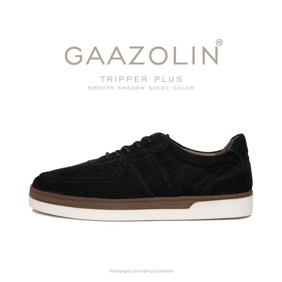 کتانی تریپر پلاس گازولین مشکی جیر – GAAZOLIN Tripper Plus Sneakers Smooth Shadow Suede