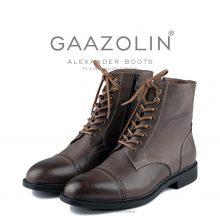 بوت اسکندر گازولین قهوهای کلاسیک - GAAZOLIN Alexander Boots Smooth Plain Mouse