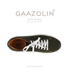 کتانی گازولین مید-استن زیتونی جدید - GAAZOLIN MID-Stan New Olive Suede