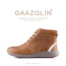 نیم بوت سونیک گازولین عسلی - GAAZOLIN Sonic Ankle Boots Antique Brass