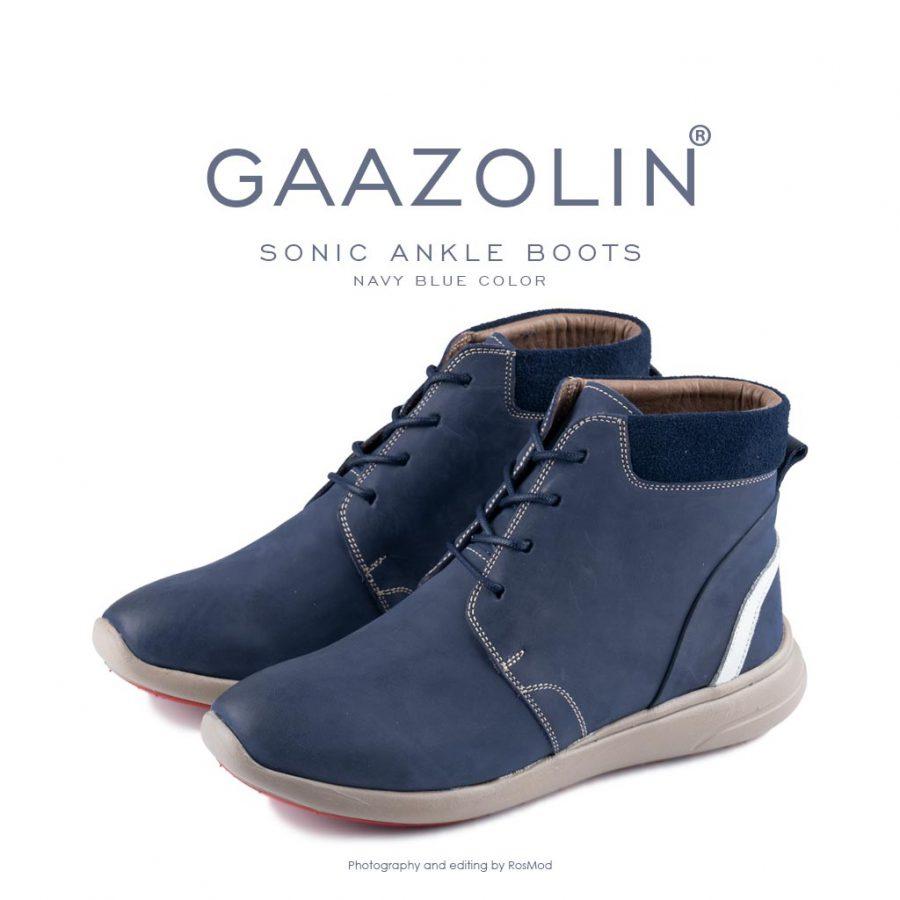 نیم بوت سونیک گازولین سرمه ای – GAAZOLIN Sonic Ankle Boots Navy Blue