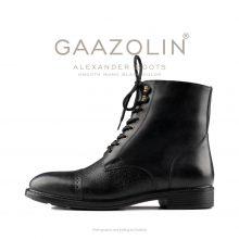 بوت اسکندر گازولین مشکی مات - GAAZOLIN Alexander Boots Smooth Mono Black