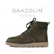 بوت هانگر گازولین سبز ارتشی - GAAZOLIN Hangar Boots Army Green
