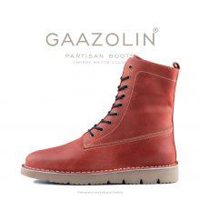 بوت پارتیزان گازولین آلبالویی - GAAZOLIN Partisan Boots Cherry Militia