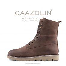 بوت پارتیزان گازولین شکلاتی مات - GAAZOLIN Partisan Boots General Commander