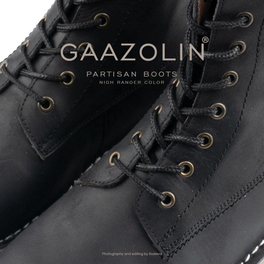 بوت پارتیزان گازولین مشکی مات – GAAZOLIN Partisan Boots Night Ranger
