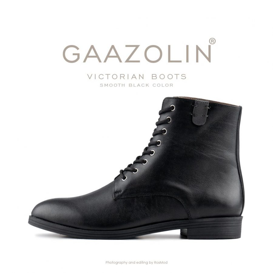 بوت ویکتورین گازولین مشکی مات – GAAZOLIN Victorian Boots Smooth Black