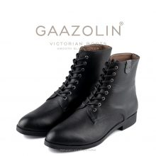 بوت ویکتورین گازولین مشکی مات - GAAZOLIN Victorian Boots Smooth Black