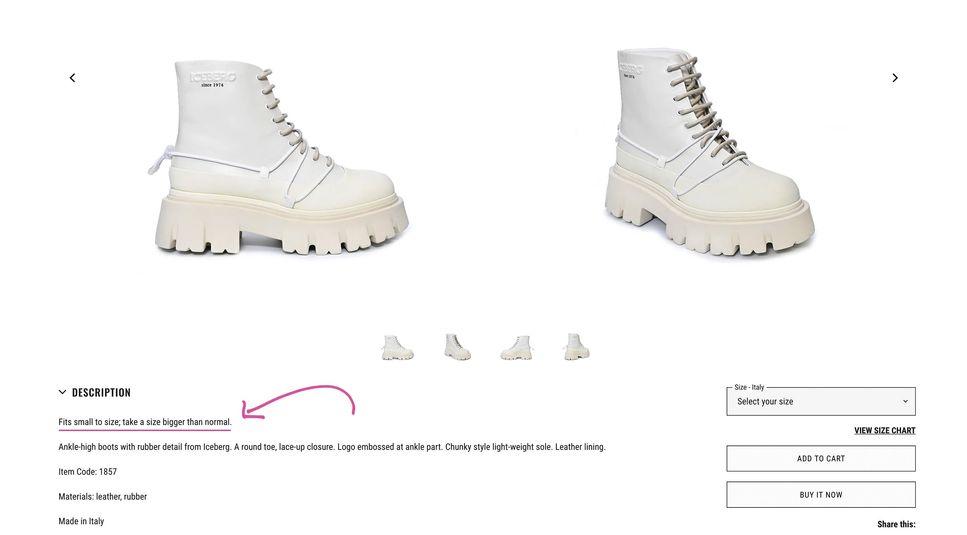 توجه به مدل کفشی که انتخاب میکنید بسیار مهم است. کفشهای نوک تیز باید به اندازهی بزرگتر انتخاب شوند