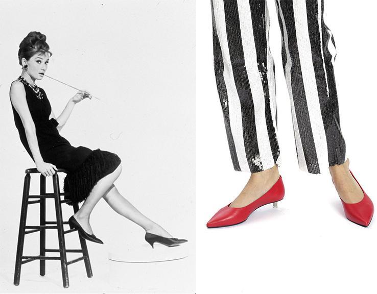 تاریخچه کفش:آدری هپبورن و مدل ویک ماتی