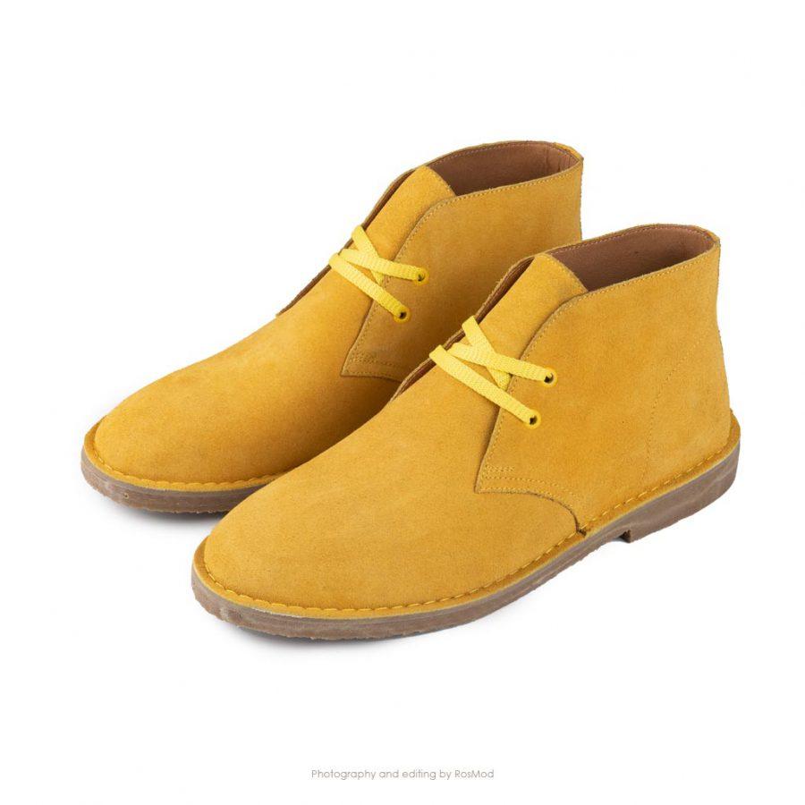 کفش صحرایی سافاری گازولین زرد جیر – GAAZOLIN Safari Veldskoen Shoes Yellow Tower